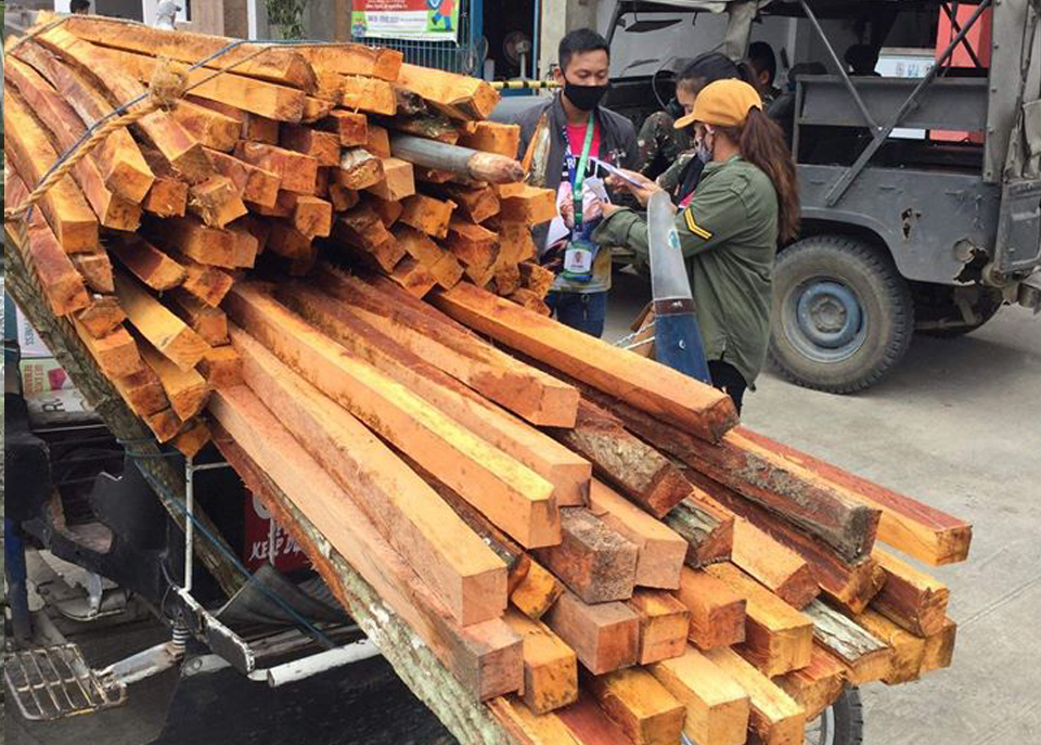 CENRO Manukan Conducts Anti Illegal Logging Campaign, Nets Illegal Lumber and Conveyance